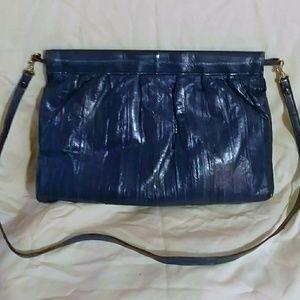 🆕Vintage Indigo Blue Supple Eelskin Crossbody Bag